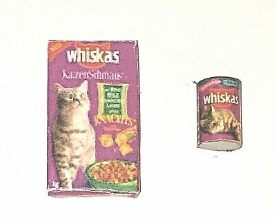 1:12 Dollhouse Miniature Boxed Cat Food// Miniature Supply D99