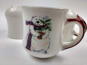Pfaltzgraff-Snow-Polar-Bear-Winter-Holiday-Christmas-14oz-CoffeeTea-Mug-Set-of-5