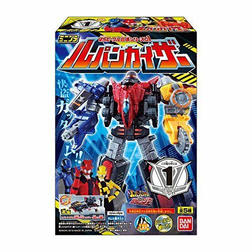 Minipura VS vehicle combined series 01 Lupine Kaiser 12 pieces Candy and Toys