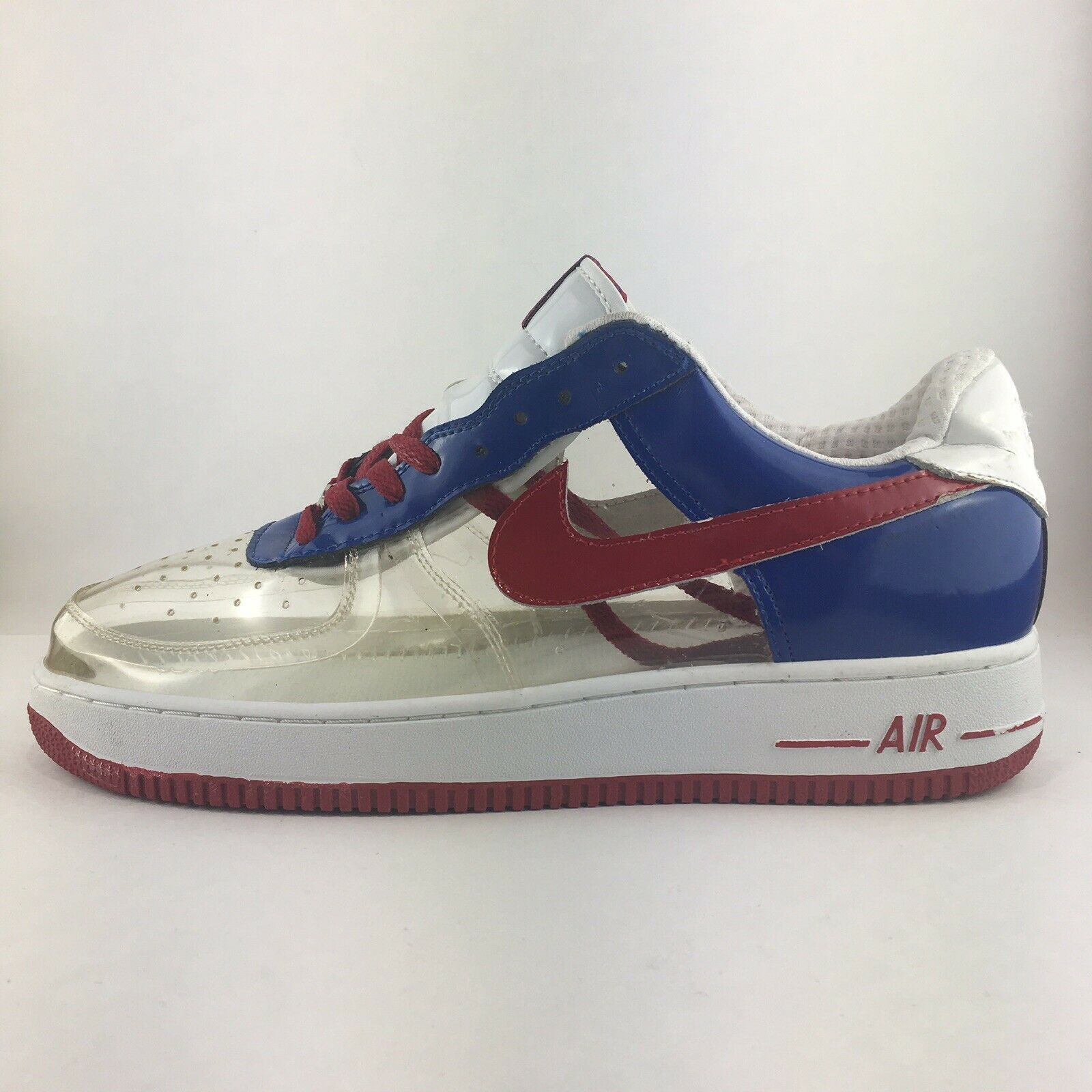 ae361c8e6e3 NIKE Air Force 1 See See See Through Clear Red