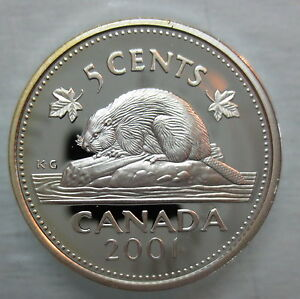 2001-CANADA-5-CENTS-PROOF-SILVER-NICKEL-HEAVY-CAMEO-COIN