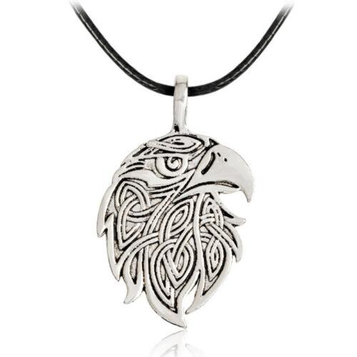 1PC Wolf Fox Eagle Viking Necklace Norse Amulet Pendant Necklace Unisex Jewelry