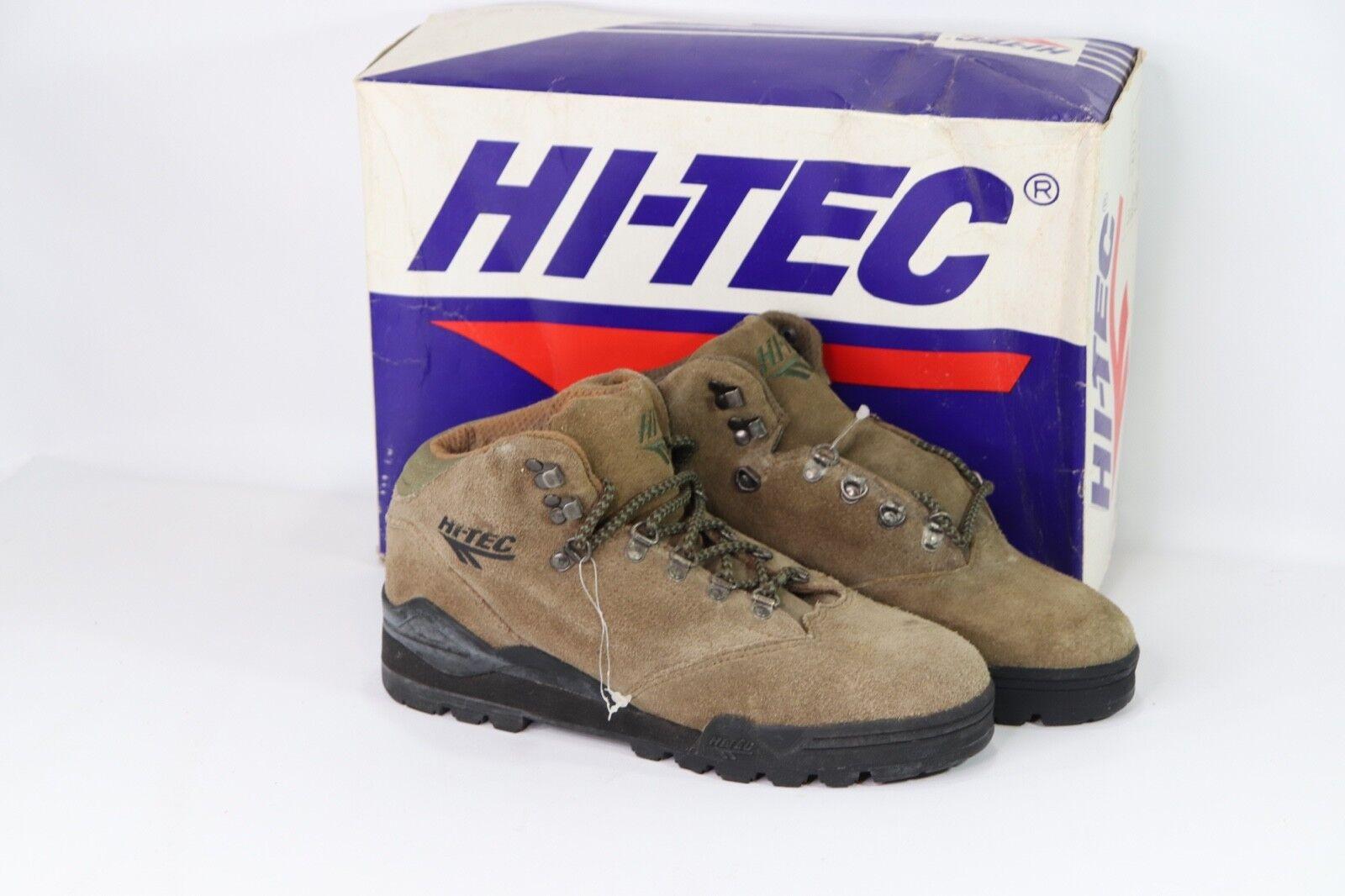 Vintage 90s Nuevo Hi Tec Para Mujer Dama 8.5 Alpine botas para excursionismo al aire libre de cuero de gamuza