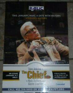 STEELERS-ART-ROONEY-034-THE-CHIEF-034-TOM-ATKINS-AUTOGRAPHED-PUBLIC-THEATRE-POSTER