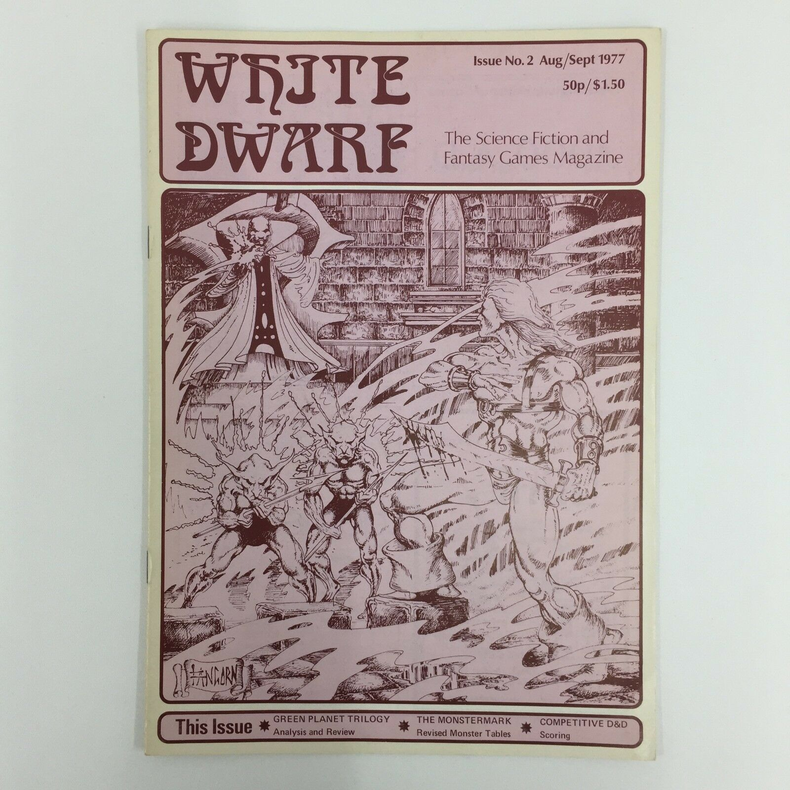 WHITE DWARF MAGAZINE ISSUE 2 FIRST PRINT 1977 GAMES WORKSHOP WARHAMMER D&D TSR