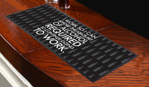 I WORK SO I CAN AFFORD ALCOHOL BAR RUNNER IDEAL FOR HOME COCKTAIL PARTY PUB BEER