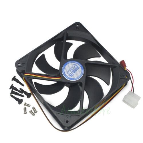 140mm x25mm 3pin /&4pin Cooling Fan For PC Case CPU GPU Card Radiator Replacement