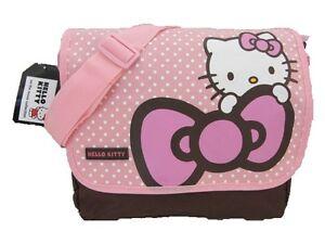 Hello-Kitty-Sanrio-Cross-Body-Shoulder-Messenger-Satchel-Bag-Pink-White-Spots