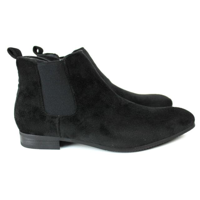 mens black velvet chelsea boots