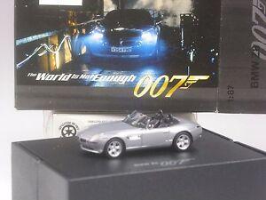 TOP-Herpa-BMW-Z8-silber-mit-weissen-Scheinwerfern-007-James-Bond-in-grosser-OVP