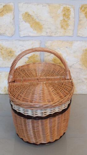 Cesta de picnic cesto hongo cesta de la compra cesta de mimbre auto cesta cosecha cesta sauce canasta nuevo