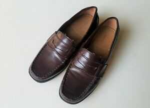 Boys BASS & CO brown faux leather penny loafers kids 4 ...