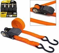 4PC Ratchet Tie Down Strap Set Cargo Trailer Marquee Roof Rack 25mm x 4.5m /15ft