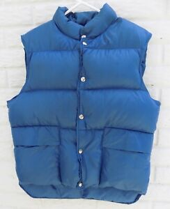LL-Bean-Youth-Goose-Down-Puffer-Vest-Jacket-Blue-Hunting-Fishing-Size-Medium-M
