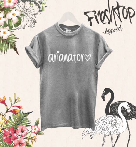Arianator T-Shirt Logo Ariana Grande Fächer Music Sophomore Flitterwochen Tour