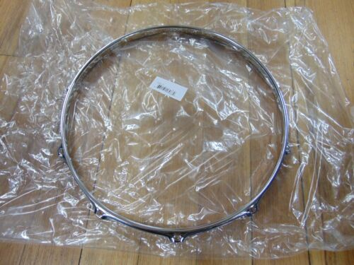 "Snare Batter WW Shipping New 2.3 Chrome Drum Hoop 14/"" 10  Hole//Lug"