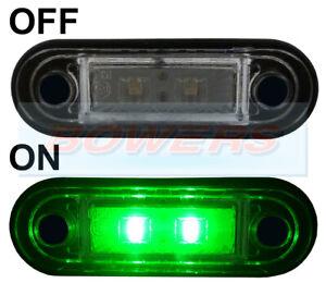 HELLA-TYPE-LED-FLUSH-FIT-KELSA-LIGHT-BAR-MARKER-LAMP-LIGHT-12v-24v-GREEN-LAML004