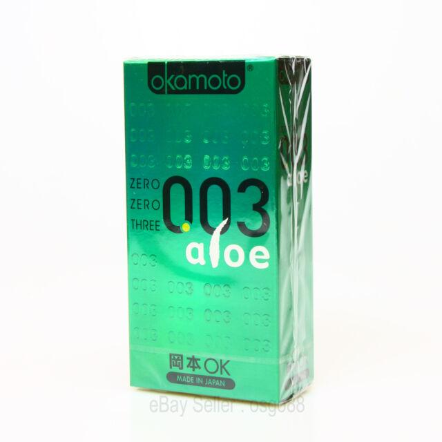 10p Okamoto 003 0.03mm Aloe condom Lubricant Super Ultra THIN condoms Japan