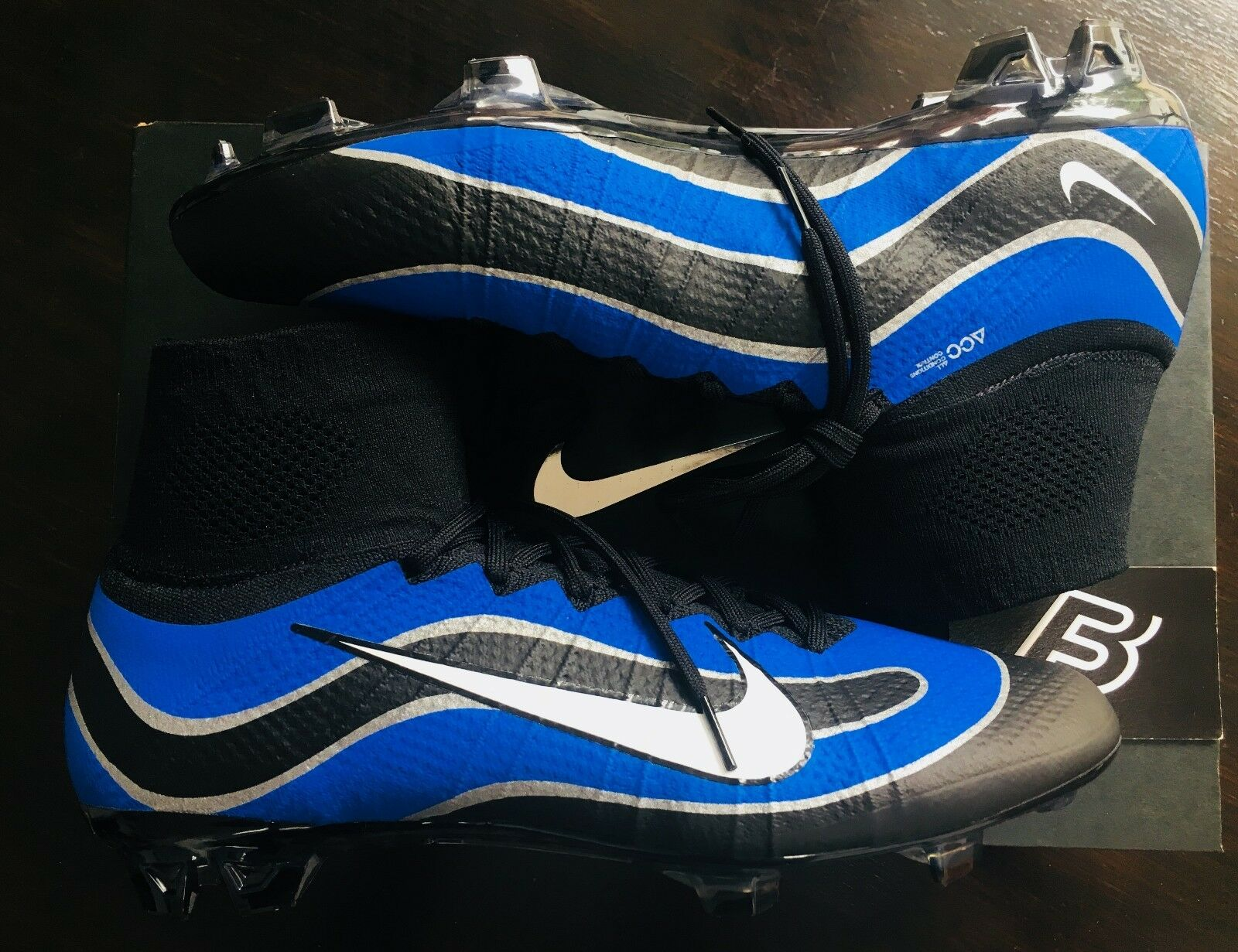 Nike Mercurial Superfly patrimonio ID R9 – FG se Azul Negro 10.5 Muy Raro
