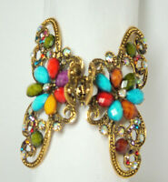 Hair Clip Jeweled Multi Colored Butterfly Elegant Hair Fashion Metal 17