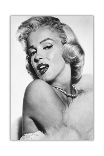 GREY BEAUTIFUL MARILYN MONROE PORTRAIT CANVAS PICTURES ART PRINTS WALL POSTERS
