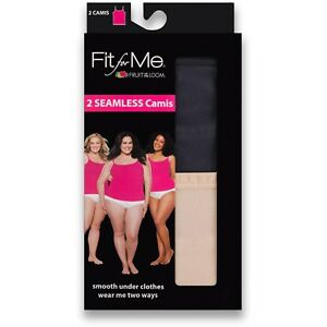 New Women/'s Fruit Of The Loom Fit For Me 2 Seamless Plus Size Camis  Size 2X