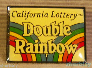 DOUBLE RAINBOW CALIFORNIA LOTTERY HAT Lapel PIN Button Brooch Badge