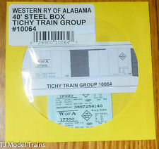 Tichy Train Group #10064 Decal for: Western Railway of Alabama 40' Steel Single-