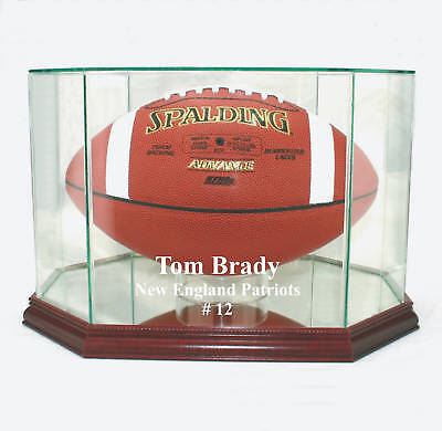 Autographs-original Glorious Tom Brady Ne Patriots F/s Glass Football Display Case Uv Free Shipping Made Usa Display Cases