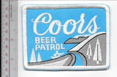 Snowmobile /& Coors Beer Patrol 1970 Promo Patch Coors Brewery Golden Colorado bl