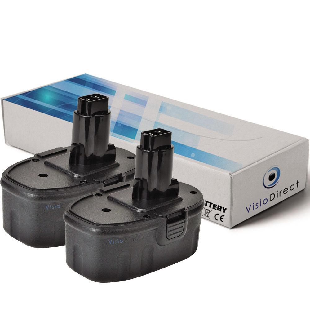 Lot de 2 batteries pour Dewalt DW994KQ 14.4V 3000mAh - Société Française