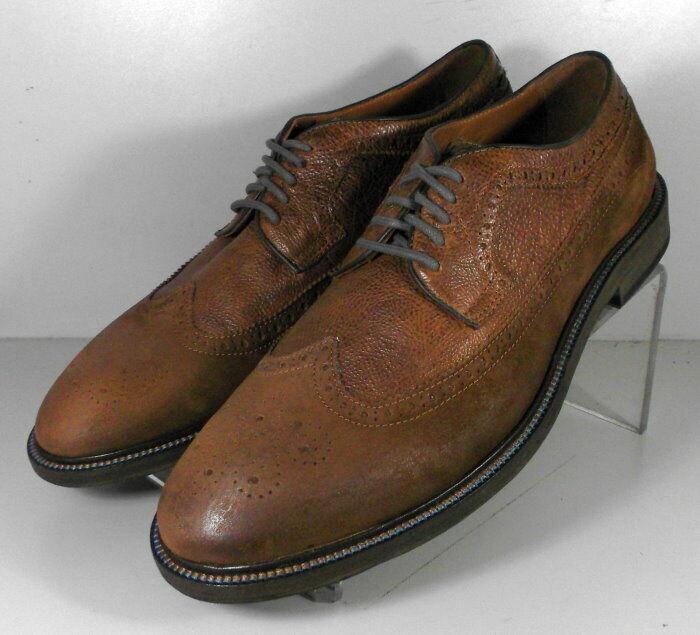 272406 WT50 Men's Shoes Size 9 M Brown Leather Lace Up Johnston Murphy Walk Test