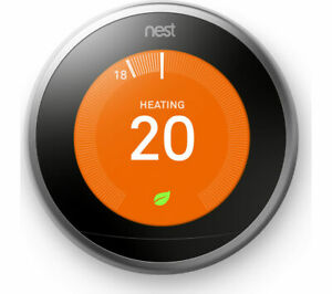 GOOGLE Nest Learning Thermostat - 3rd Generation Silver - Currys