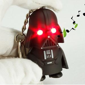 Kreativ Led SchlÜsselanhÄnger Darth Vader + Ton Taschenlampe Star Wars Accessoirs Neu ZuverläSsige Leistung