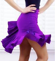 Fashion Women Dancewear Latin Rumba Cha-Cha Samba Dance Short Dress Mini Skirt
