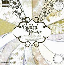 Dovecraft Dorada papeles de invierno 6 X 6 paquete de muestra nuevo 1 de cada diseño 16 Hojas