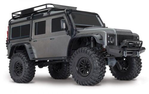 Traxxas trx-4 Scale Trail Crawler LAND ROVER de carrosserie en gris avec culture Pièces