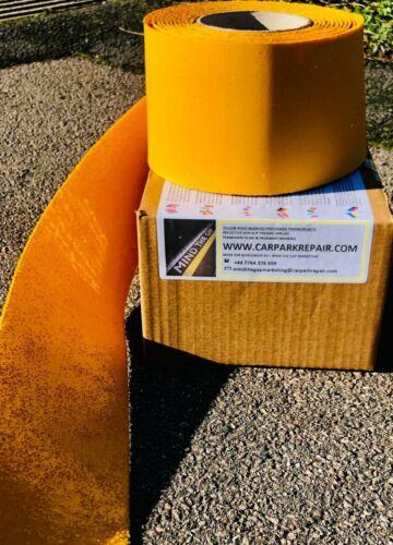 Marca vial línea amarilla 5m X 50mm carraigeway estacionamiento soplete de reinstauración