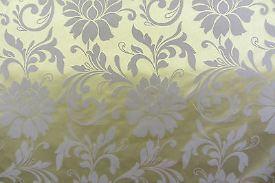 Spice Isles Lime Striped Faux Silk Curtain//Craft Fabric