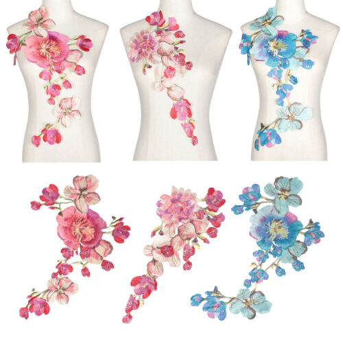 Lace Embroidered Venise Neckline Neck Collar Trim Clothes Sewing Applique Patch~