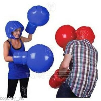 Inflatable Boxing Set Toy and Game Set Helmets and Gloves