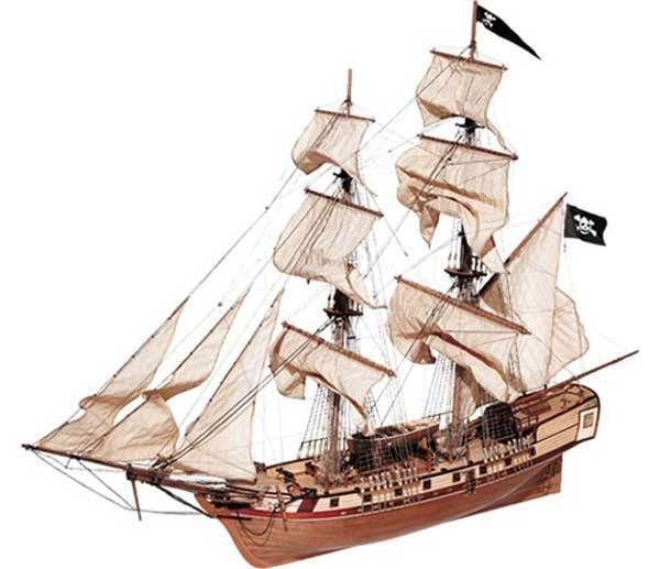 Occre Corsair Brig 1 80 Scale 13600 Wooden Model Boat Kit