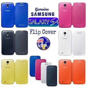 innovative design 3ee55 4700e Details about Genuine Samsung GALAXY S4 - FLIP COVER EF-Fi950BBEGWW Various  Colours