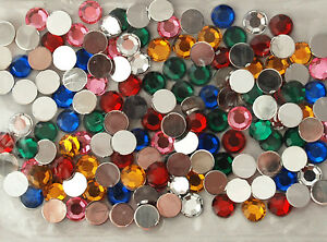 Flatback-Acrylic-Gem-Stones-Jewels-Rhinestones-Round-or-Star-Shapes