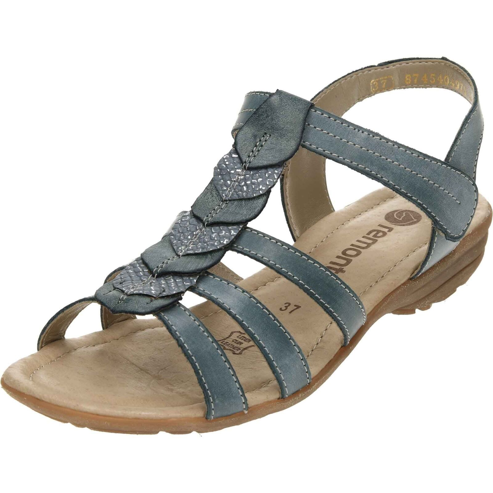 Remonte Gladiator Touch Wedge Fastening Wedge Sandals R3658 Wedge Touch Slip On Strap Shoes da2e01