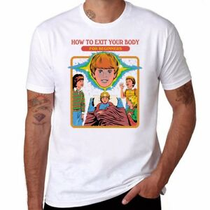How-to-Exit-Your-Body-Funny-Men-039-s-Ringer-Cotton-T-shirt-O-Neck-Short-Sleeve-Top