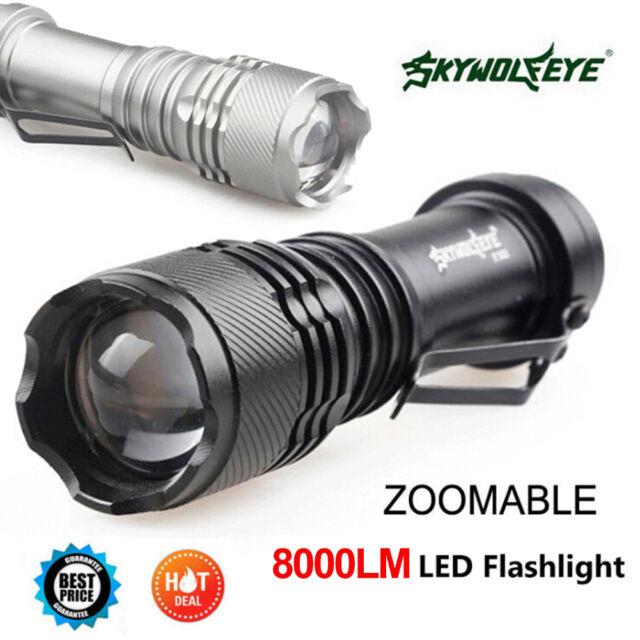 Mini New Q5 7W 8000Lm Adjustable LED Flashlight Torch Lamp LOT Zoom Light GA