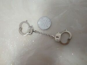 Length-3cm-1-6th-Figure-Toy-Model-Silver-Handcuffs-For-12-034-Male-amp-Female-Body