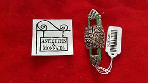 Jewelry & Watches Objective Mandrino Antico Argento Massiccio Asiatica Smaltato Verde Ref00003730 Low Price Fine Pins & Brooches