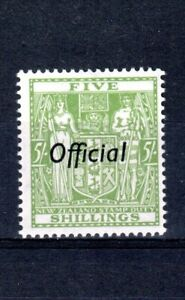 New Zealand 1943 6s Postal Fiscal with Official opt MNH